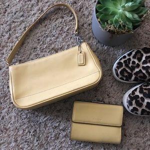 Coach Hampton Demi Baguette Bag and Wallet